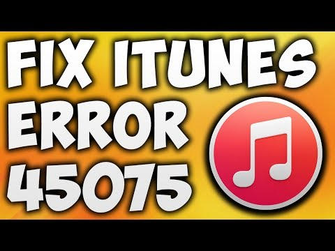 How To Fix Itunes Error 45075 - A Required Itunes Component Is Not Installed [100% WORKING]