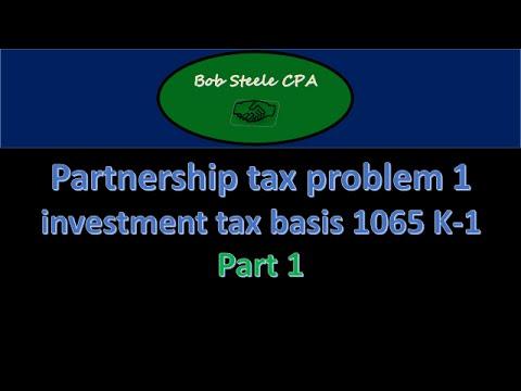 Partnership tax problem 1 investment tax basis 1065 K-1 Part 1