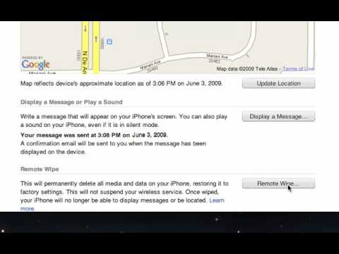 Find My iPhone and Remote Wipe - MobileMe Help