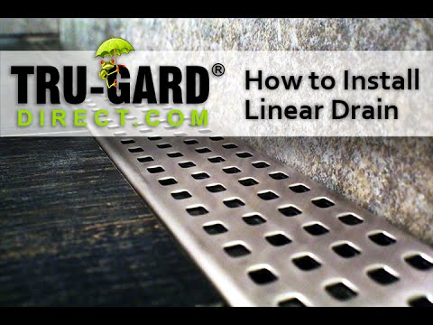 Trugard Direct - TruLine Linear Shower Drain Installation