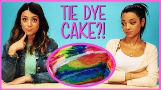 NikiAndGabiBeauty Rainbow Tie Dye Cake?! | Niki and Gabi DIY or Di-Don