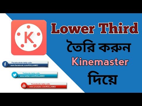 How to create lower Thirds on Android using kinemaster (with sound)