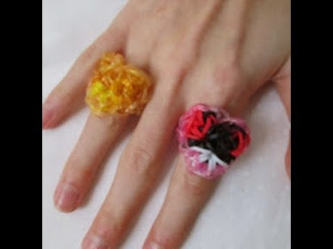 Rainbow Loom- How to Make a Kaleidoscope Heart Ring (Inspired by Feelinspiffy's Kaleidoscope)
