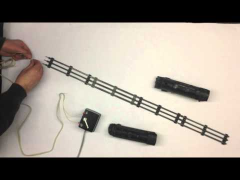 How to hook up wire the old timey 3 rail toy trains