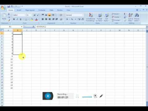 In hindi how to use even formula in ms excel with example