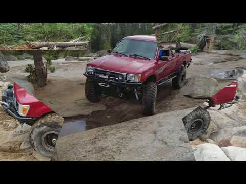 Toyota Long Travel IFS & dual cases on Rubicon Trail Marlin Crawler Roundup 2017