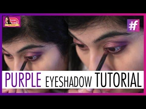 Purple Eyeshadow Makeup Tutorial   By Mehak