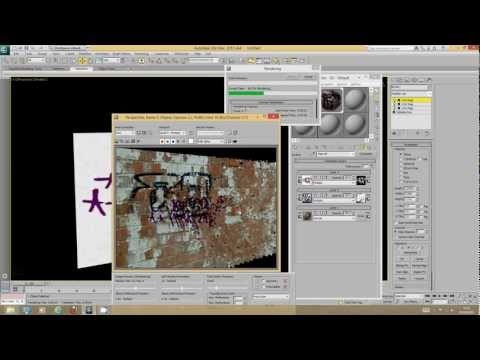 Overlaying textures, decals, dirt maps, and graffiti in 3DS Max 2013