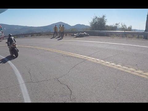 Crazy Motorcycle Crash at Palomar!!!