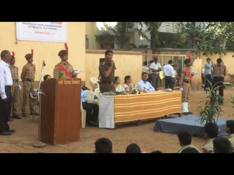 Sathaye College NCC Lt Gaurang Rajwadkar Speech at NCC Day, PTV Marathi Medium As Chief Guest