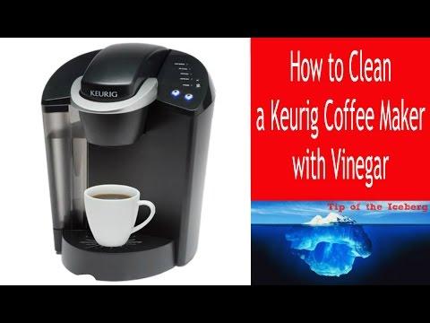 Descale Keurig Coffee Maker- Clean a Keurig with Vinegar!  - FIX SLOW BREW ☕