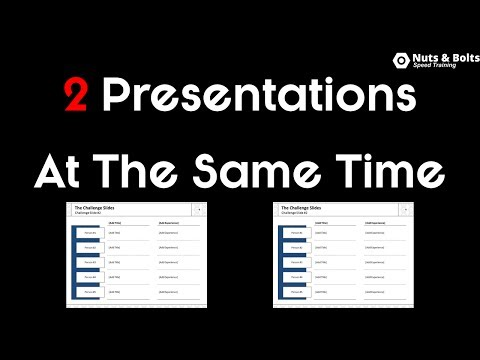 Showing 2 PowerPoint Presentations side-by-side