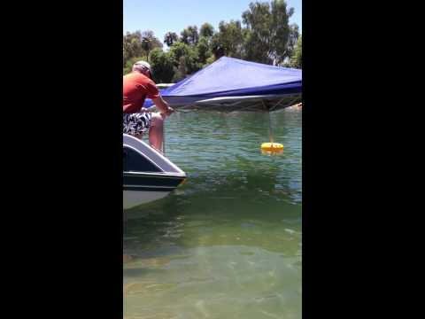 Taking down a floating canopy with the Water Shade Canopy Float Kit