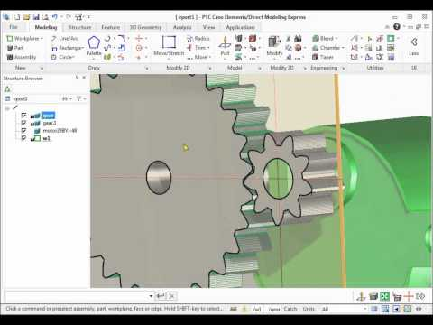 Create gears for 3D printing with PTC Creo Elements/Direct Modeling Express 6 and Gear Generator