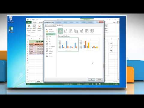 How to make a Column (Vertical Bar) Graph in Microsoft® Excel 2013