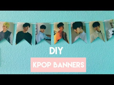 DIY KPOP Party Banners