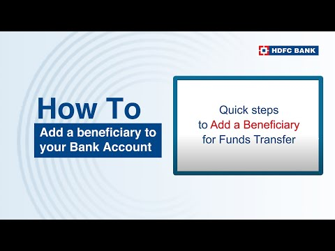 How to add a beneficiary to your bank account? HDFC Bank, India's no. 1 bank*