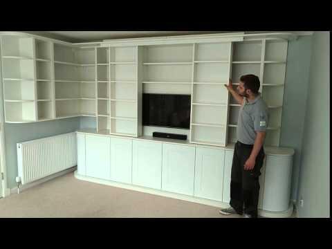 Sliding bookcase units