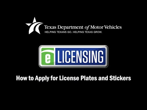 eLICENSING: How to Apply for License Plates and Stickers