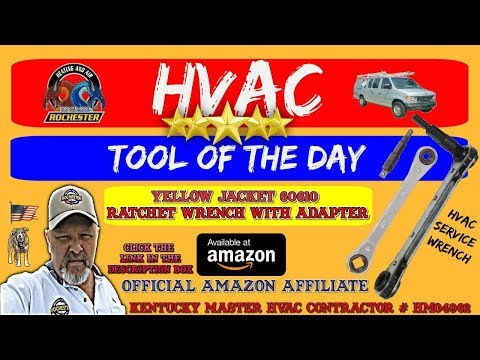 Yellow Jacket 60610 Ratchet Wrench With Adapter : HVAC Tool of the Day