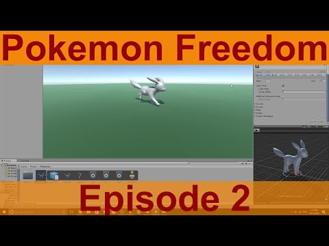 Unity Game Creation: Pokemon Freedom Ep.2 - Character Setup