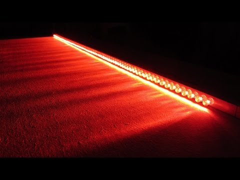 How to Make Car Vehicle Brake Lights LED Bar Wire Multiple Light Ideas 12V LED's 5mm in Series