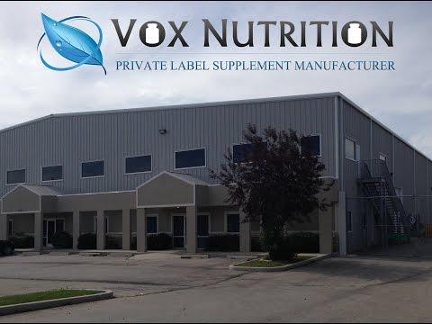Private Label Supplement Manufacturer - Vox Nutrition