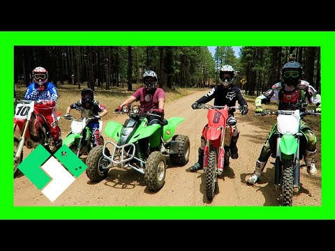 Family Dirt Bike Ride up in Forest Lakes (Day 1922) | Clintus.tv