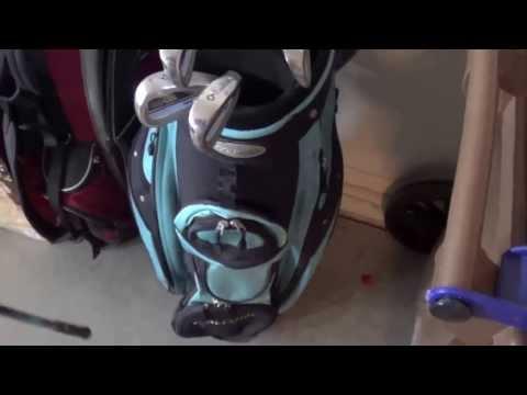 Garage and golf clubs