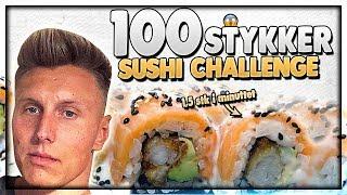 100 STYKKER SUSHI CHALLENGE  - PÅ 1 TIME