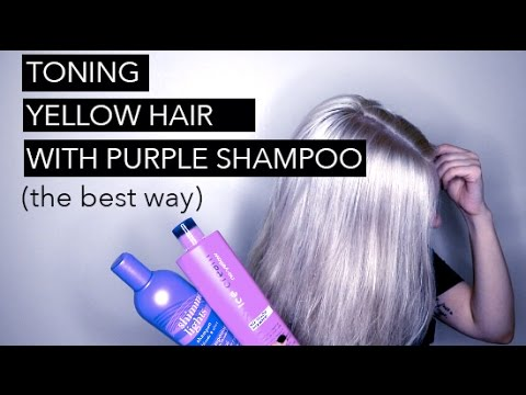 HOW TO TONE HAIR WITH PURPLE SHAMPOO