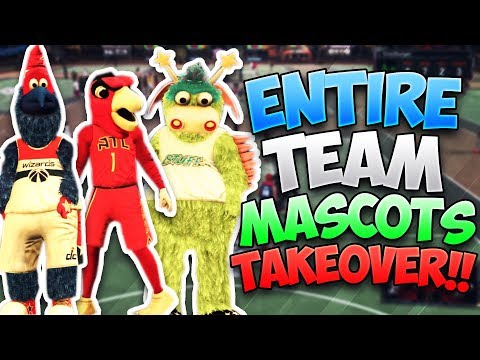 ENTIRE TEAM MASCOTS AT THE PARK!! We Couldn't Be Stopped! - NBA 2K17