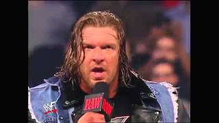 WWF (ATTITUDE  ERA) RAW TRIPLE H RETURN