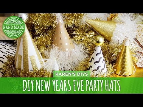DIY New Years Eve Party Hats - HGTV Handmade