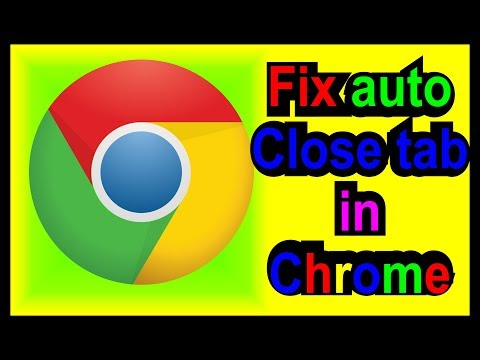 How to Open auto Close tabs in Google Chrome?