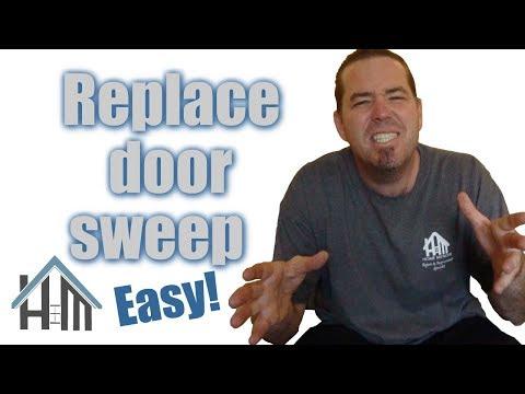 How to replace a door sweep on exterior door. Easy! Home Mender.