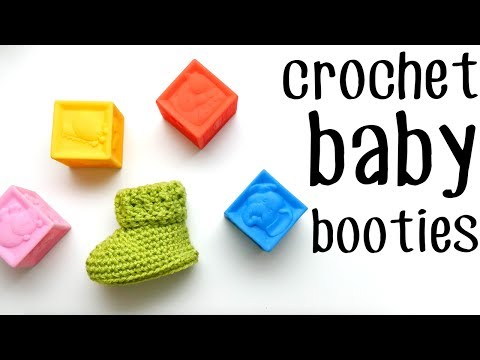 Easy Crochet Baby Booties - The Parker Shoes