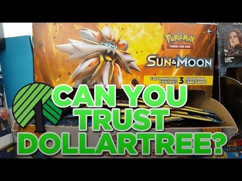 CAN YOU TRUST DOLLAR TREE PACKS OF SUN & MOON POKEMON CARDS!?!?