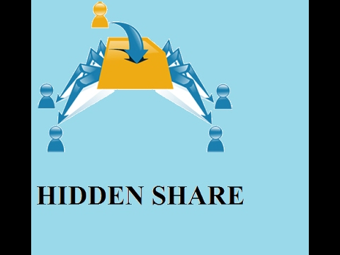 how to configure hidden share in windows server 2012 r2 ?
