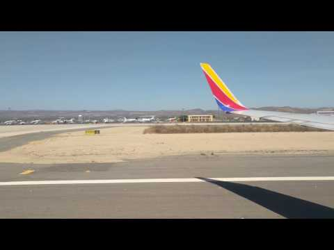Taxi & Takeoff from Los Cabos International Airport (SJD) | Southwest Airlines | 4K