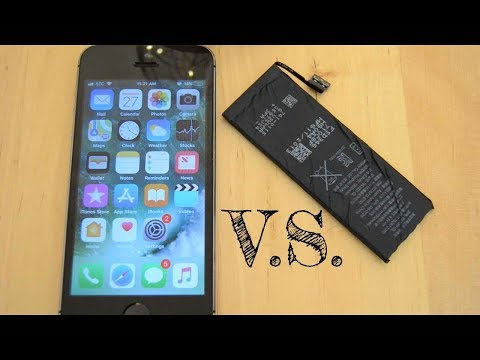 NEW iPHONE BATTERY V.S. OLD IPHONE BATTERY - SHOCKING COMPARISON!! #IPHONE 5S #IOS11