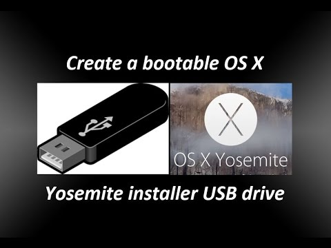 Create a bootable OS X Yosemite installer USB drive