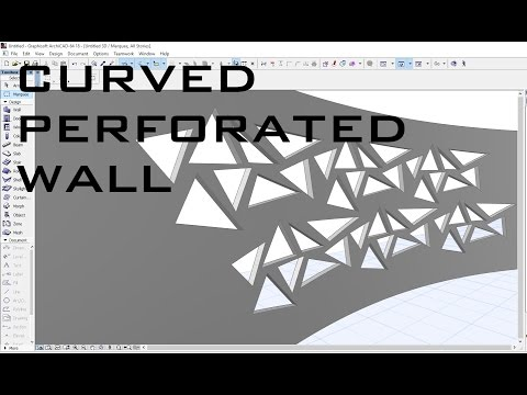 Perforated Curved Wall ArchiCAD