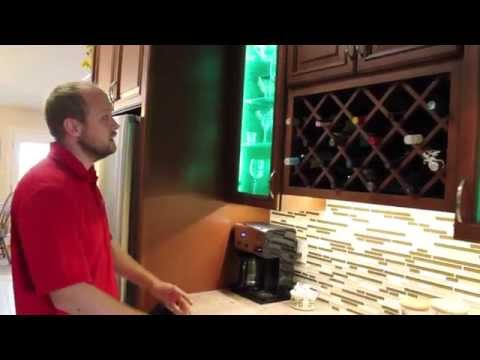 Kitchen Cabinet Remodel With Multi-Color Changing LED Lighting