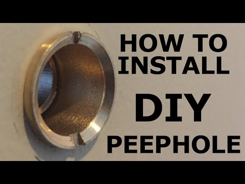How to Install a Peephole in a Front Door-DIY Installation