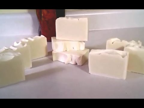 Making and Cutting Castile Soap, 100% olive oil!