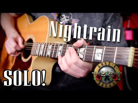 Nightrain Acoustic Solo - by Guns N Roses -  Cover & Lesson