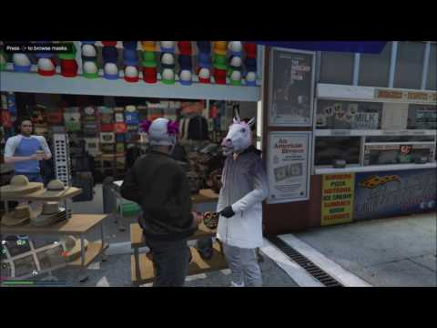 GTA 5- KILLER CLOWN VS THE UNICORN, WHO WILL WIN?