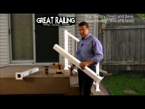 How to install Aluminum railing posts.