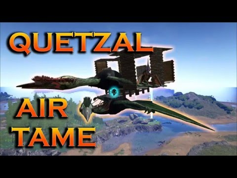 Safe Quetzal Taming in the Air, Ark Survival Evolved